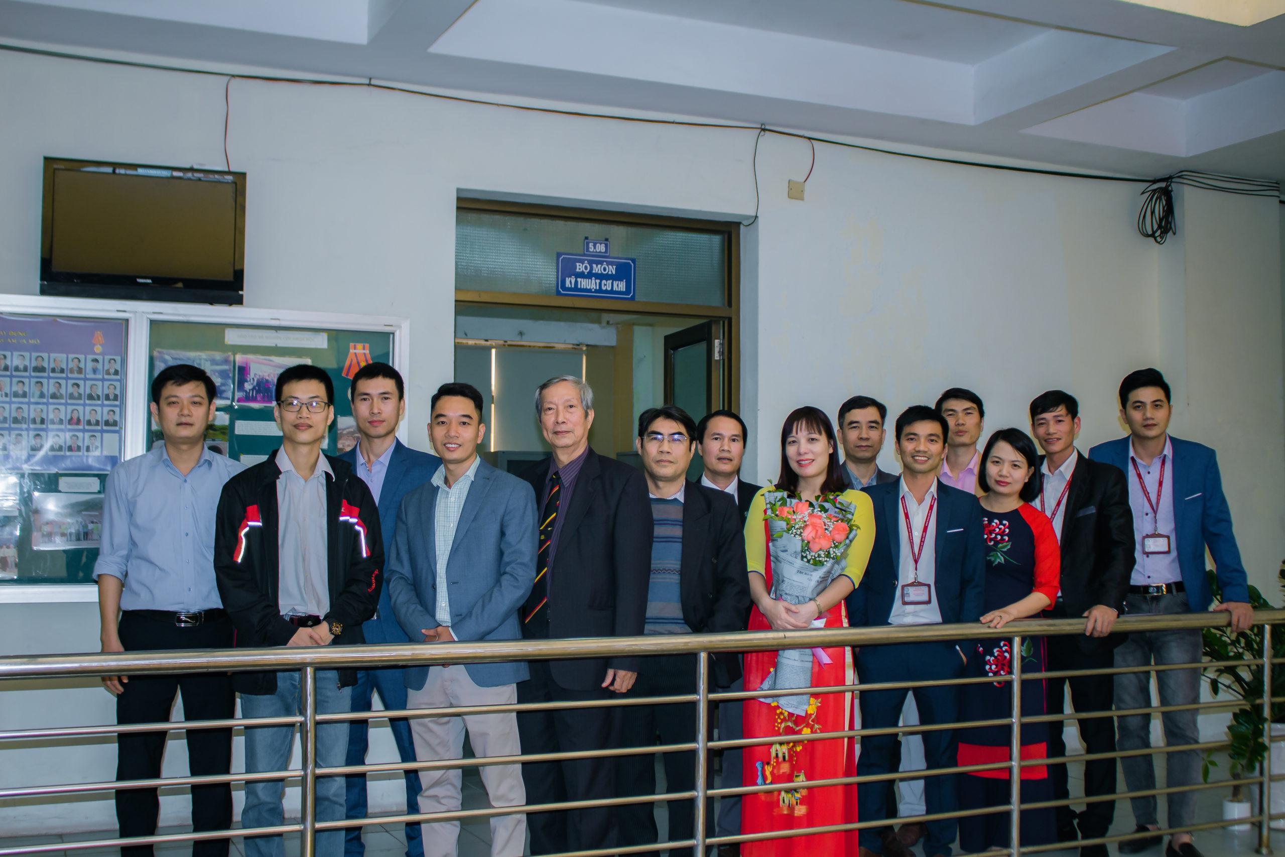 Tập thể Cán bộ giảng dạy Bộ môn Kỹ thuật cơ khí