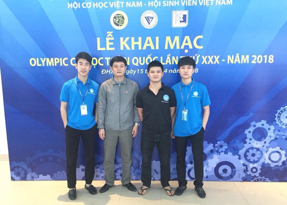 """Là thành viên tham gia các Đội tuyển thi Olympic cấp Quốc gia môn """"Chi tiết Máy"""""""